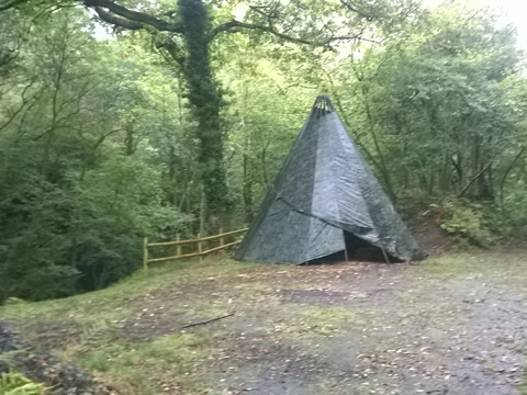 Tipi in the Woods